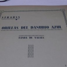 Partituras musicales: PARTITURA PARA PIANO. STRAUSS: ORILLAS DEL DANUBIO AZUL. TANDA DE VALSES. OP. 314. 9 PAGS.. Lote 39405983
