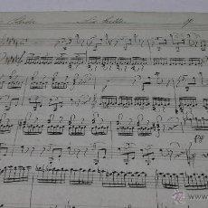 Partituras musicales: PARTITURA MANUSCRITA. DOLHER. ETUDE. LE TRILLE. 2 HOJAS. Lote 39420453