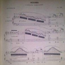 Partituras musicales: ANTIGUA PARTITURA NORMA FANTASIA BRILLANTE DE J. LEYBACH MEDIADOS DEL XIX. Lote 40531618