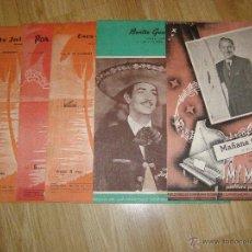 Partituras musicales: BONITO LOTE DE 5 PARTITURAS ANTIGUAS - AÑOS 40 - LAS DE LA FOTO - ALGUNAS RARAS - FOTOS DETALLADAS -. Lote 40653448