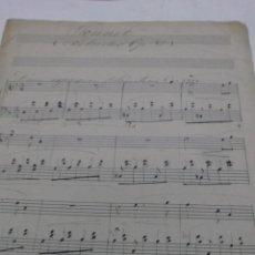 Partituras musicales: PARTITURA MANUSCRITA. SONNET: (PRELUDES. OP. 81). 2 HOJAS.. Lote 40975284