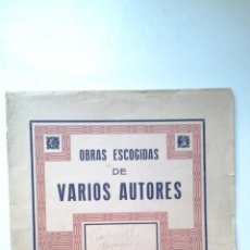 Partituras musicales: OBRAS ESCOGIDAS DE VARIOS AUTORES, UNION MUSICAL ESPAÑOLA. Lote 41054365