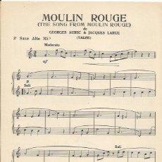 Partituras musicales: +-+ PP123 - PARTITURA - MOULIN ROUGE / LOUISA - 3º SAXO ALTO MI B - 1953. Lote 41057577