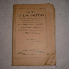 Partituras musicales: SOLFEO DE LOS SOLFEOS VOLUMEN 2 ENRIQUE LEMOINE. Lote 41266985