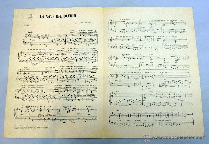Partitura Letra Música Canción La Nave Del Olvi Comprar Partituras Musicales Antiguas En Todocoleccion 184688660