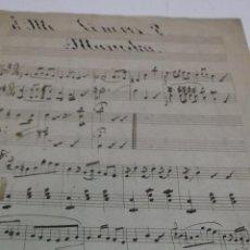 Partituras musicales: PARTITURA MANUSCRITA. SIN AUTOR. ¿ME CONOCES?. MAZURKA. 2 HOJAS. Lote 41425207