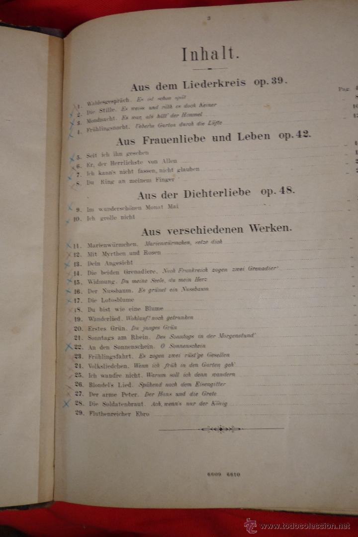 Partituras musicales: MÚSICA CLÁSICA, LIBRETO DE PARTITURAS SCHUMAN-ALBUM, MUY ANTIGUO - Foto 2 - 41467560