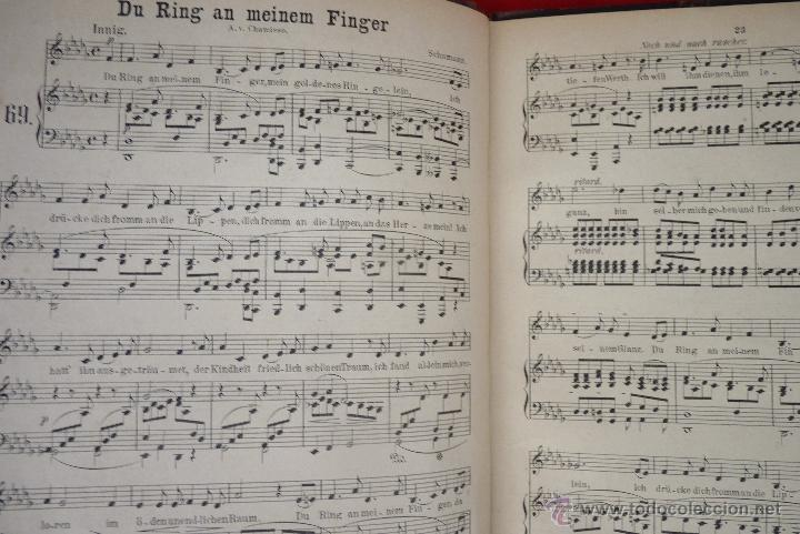 Partituras musicales: MÚSICA CLÁSICA, LIBRETO DE PARTITURAS SCHUMAN-ALBUM, MUY ANTIGUO - Foto 5 - 41467560