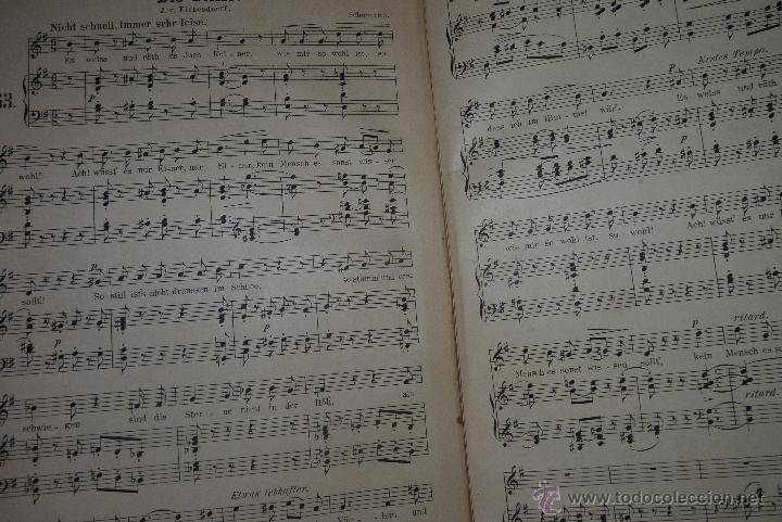 Partituras musicales: MÚSICA CLÁSICA, LIBRETO DE PARTITURAS SCHUMAN-ALBUM, MUY ANTIGUO - Foto 7 - 41467560
