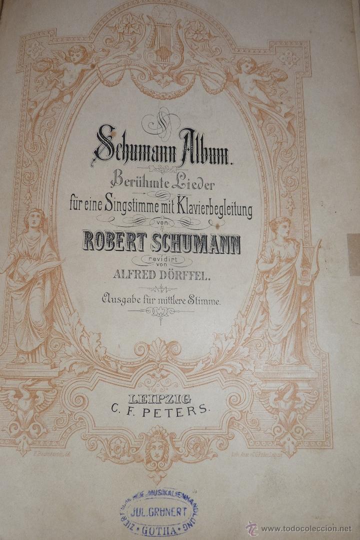 Partituras musicales: MÚSICA CLÁSICA, LIBRETO DE PARTITURAS SCHUMAN-ALBUM, MUY ANTIGUO - Foto 8 - 41467560