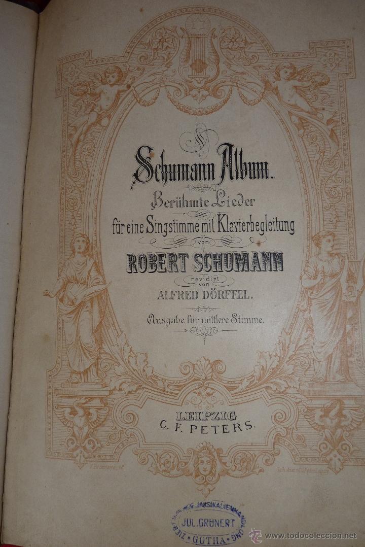 Partituras musicales: MÚSICA CLÁSICA, LIBRETO DE PARTITURAS SCHUMAN-ALBUM, MUY ANTIGUO - Foto 9 - 41467560