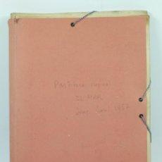 Partituras musicales: JOSEP CAROL PEREZ (BARCELONA 1914-1992) PARTITURA ORIGINAL MANUSCRITA :EL MAR, AÑO 1957. . Lote 41586426
