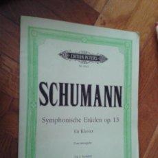 Partituras musicales: PARTITURA SCHUMANN EDITION PETERS NR. 9515 SYMPHONISCHE ETÜDEN OP. 13 FÜR KLAVIER (H.J. KÖHLER). Lote 41952313