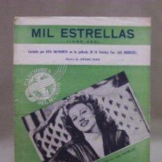 Partituras musicales: ANTIGUA PARTITURA, MIL ESTRELLAS, LONG AGO, CINE, LAS MODELOS, RITA HAYWORTH, CANCIONES DEL MUNDO. Lote 42709897