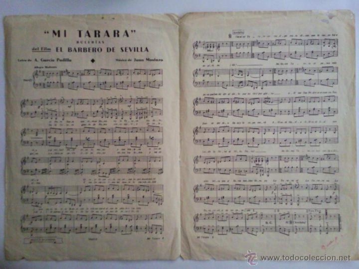 Partitura Canciones Mi Tarara De La Pelicula E Sold Through