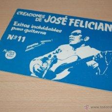 Partituras musicales: MÚSICA DEL SUR - CREACIONES DE JOSÉ FELICIANO EXITOS INOLVIDABLES PARA GUITARRA - Nº 11. Lote 42867090