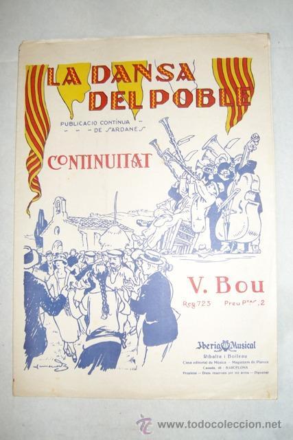 CONTINUITAT. SARDANA POR VICENS BOU. PARTITURA. BARCELONA, AÑOS VEINTE. (Música - Partituras Musicales Antiguas)