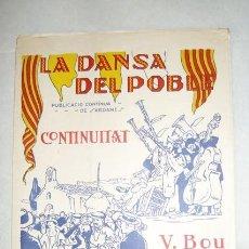 Partituras musicales: CONTINUITAT. SARDANA POR VICENS BOU. PARTITURA. BARCELONA, AÑOS VEINTE.. Lote 42896419