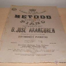 Partituras musicales: METODO COMPLETO DE PIANO POR D. JOSÉ ARANGUREN - LA SERENISIMA SRA. PRINCESA DE ASTURIAS. Lote 43240374