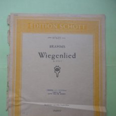 Partiture musicali: BRAHMS. WIEGENLIED. PIANO. Lote 43342291