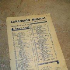 Partituras musicales: PARTITURA, EXPANSION MUSICAL, COLECCION DE OBRAS ESCOGIDAS VALS. Lote 43476526