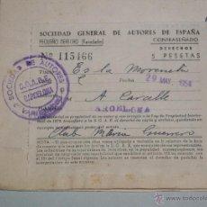 Partituras musicales: SOCIEDAD GENERAL DE AUTORES - ES LA MORENETA - CLUB MARIA GUERRERO -. Lote 43489709