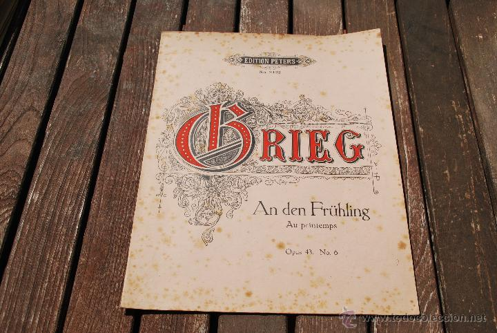EDVARD GRIEG - EDITION PETERS - Nº 2422 (Música - Partituras Musicales Antiguas)