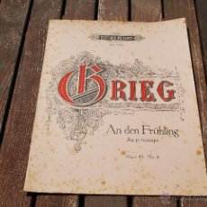 Partituras musicales: EDVARD GRIEG - EDITION PETERS - Nº 2422. Lote 43596424