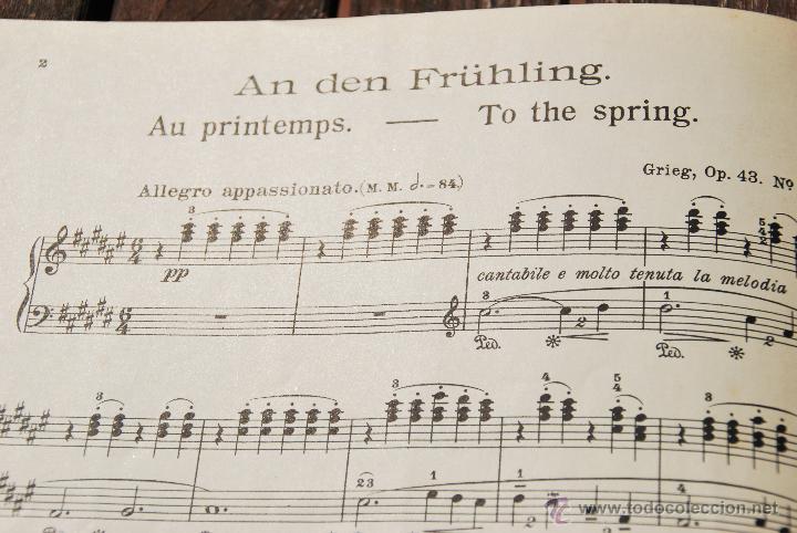 Partituras musicales: EDVARD GRIEG - EDITION PETERS - Nº 2422 - Foto 2 - 43596424