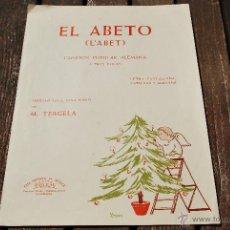 Partituras musicales: EL ABETO - CANCION POPULAR ALEMANA - ARREGLO FACIL PARA PIANO POR M.TERGELA. Lote 43596676
