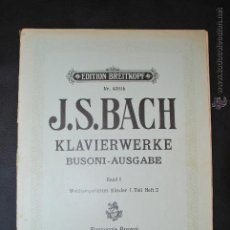 Partituras musicales: J.S. BACH - EDITION BREITKOPF Nº 4301B . Lote 43612025