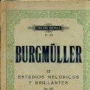 Partituras musicales: BURGMULLER : 12 ESTUDIOS MELÓDICOS Y BRILLANTES OP. 105 III. Lote 43813771