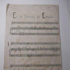 Partituras musicales: PARTITURA EN PIE FLECHAS DE ESPAÑA. Lote 43926024