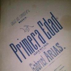 Partituras musicales: LA PRIMERA EDAD EL TRAVIESO VALS MUY FACIL PARA PIANO POR B. ARIAS. Lote 43937311