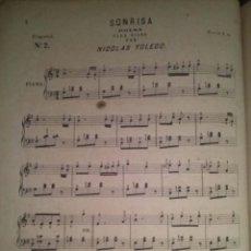 Partituras musicales: SONRISA POLKA PARA PIANO POR NICOLAS TOLEDO. Lote 43937427