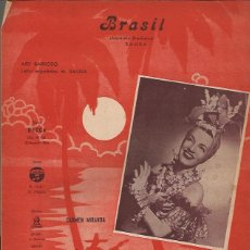 Partituras musicales: PARTITURA-CARMEN MIRANDA BRASIL-MUSICA DEL SUR-SPAIN 1941. Lote 44240851