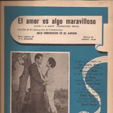 Partituras musicales: PARTITURA-EL AMOR ES ALGO MARAVILLOSO-CANCIONES DEL MUNDO-SPAIN 1955-FOUR ACES-CINE-WILLIAM HOLDEN. Lote 44240957