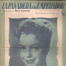 Partituras musicales: PARTITURA-LA PANADERA Y EL EMPERADOR PAJARITO ENAMORADO-ROMY SCHNEIDER-CINE-SPAIN 1955. Lote 44241289