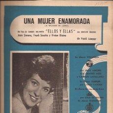 Partituras musicales: PARTITURA-SERENELLA UNA MUJER ENAMORADA GUYS AND DOLLS ELLOS Y ELLAS-SPAIN 1955-CANCIONES DEL MUNDO. Lote 44241339