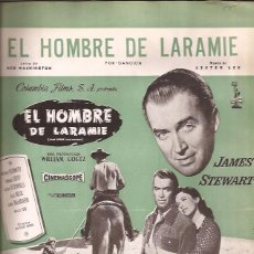 Partituras musicales: PARTITURA-EL HOMBRE DE LARAMIE-LEE WASHINGTON-EDIC. MUSICALES MADRID-SPAIN 1955-CINE-JAMES STEWART. Lote 44241393