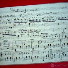 Partituras musicales: VALS - PARTITURA ORIGINAL - JAUME REVENTÓS . Lote 44652280