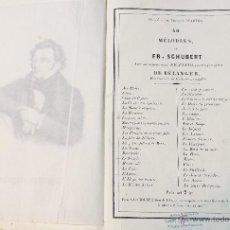 Partituras musicales: LIBRO ANTIGUO CON 40 MELODIAS DE F. SCHUBERT Y SUS PARTITURAS. VER. Lote 45419070