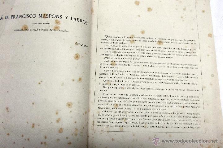 Partituras musicales: CANSONS DE NOYS Y NOYAS, 1875. LETRA JOAQUIN RIERA ILUSTRADAS POR APELES MESTRES. MUSICA J. RODODERA - Foto 2 - 45534703