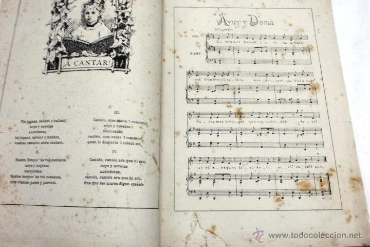 Partituras musicales: CANSONS DE NOYS Y NOYAS, 1875. LETRA JOAQUIN RIERA ILUSTRADAS POR APELES MESTRES. MUSICA J. RODODERA - Foto 3 - 45534703