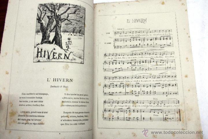 Partituras musicales: CANSONS DE NOYS Y NOYAS, 1875. LETRA JOAQUIN RIERA ILUSTRADAS POR APELES MESTRES. MUSICA J. RODODERA - Foto 5 - 45534703