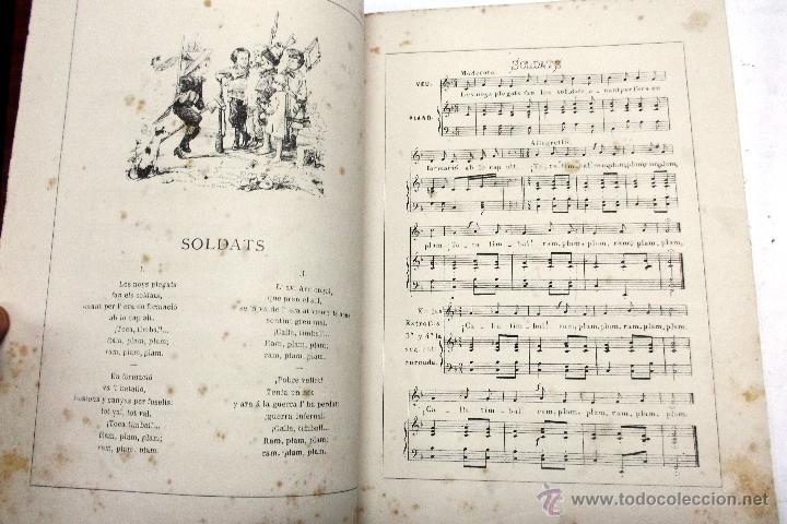 Partituras musicales: CANSONS DE NOYS Y NOYAS, 1875. LETRA JOAQUIN RIERA ILUSTRADAS POR APELES MESTRES. MUSICA J. RODODERA - Foto 6 - 45534703