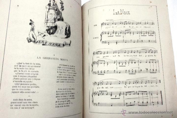 Partituras musicales: CANSONS DE NOYS Y NOYAS, 1875. LETRA JOAQUIN RIERA ILUSTRADAS POR APELES MESTRES. MUSICA J. RODODERA - Foto 8 - 45534703