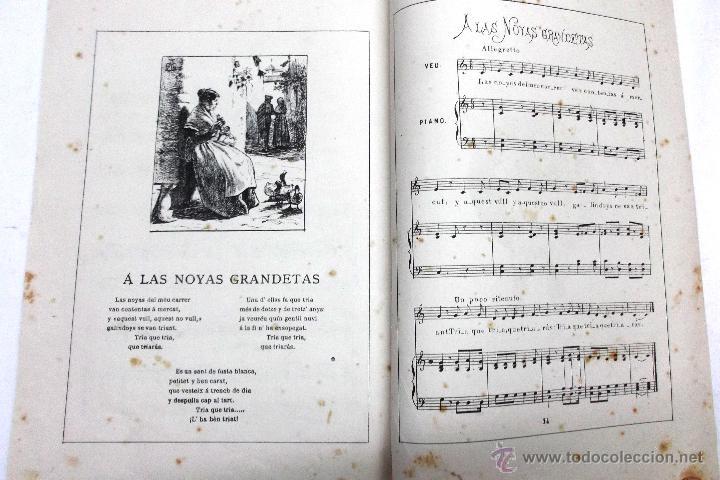 Partituras musicales: CANSONS DE NOYS Y NOYAS, 1875. LETRA JOAQUIN RIERA ILUSTRADAS POR APELES MESTRES. MUSICA J. RODODERA - Foto 9 - 45534703