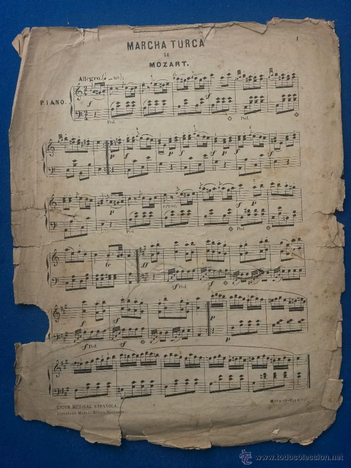 Partitura Marcha Turca De Mozart De 3 Paginas Buy Old Musical Scores At Todocoleccion 45590292