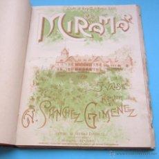 Partituras musicales: 11 PARTITURAS DE MÚSICA PARA PIANO ENCUADERNADAS TAPA DURA Y LOMO DE PIEL. Lote 45889981